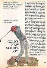 JOHNNY MILLER 1975 FEATURE & ART: GOLF'S NEW GOLDEN BOY ARNOLD PALMER'S FAVORITE
