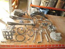 1972 Suzuki GT550 Turn Signal Relay Brake Hub Swingarm Brake Pedal Etc Parts Lot