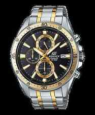 Efr-546sg-1a Black Gold Casio Watches Edifice Analog Steel Band 100m