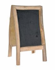 Teak Gehwegaufsteller 100x50cm - Holz Kreide Tafel Kundenstopper Werbeaufsteller