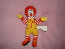 "McDonalds Toy Ronald Mcdonald Finger Puppet 6.5"" tall plush with plastic head"