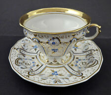 Antique KPM Berlin Tea Cup & Sauce, c. 1840s