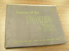 OEM Ford 1952 Dealers Showroom Facts Book Car Display Item