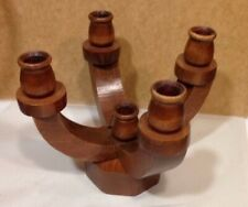 Vintage Wood Country Candle Holder candelabra centerpiece made in Vermont