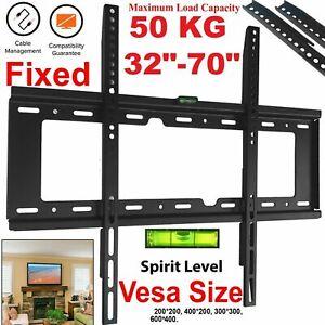 Flat TV Wall Mount Bracket Slim Plasma LCD LED 32 40 42 45 50 55 60 65 70 Inch