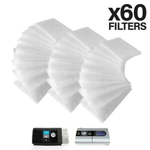 60 PACK CPAP Filters Fits the ResMed AirSense 10, S9 & AirCurve CPAP Machines