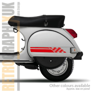 Vespa Side Panel & Toolbox graphics stickers kit Scooter decals 4 PX LML T5 RED
