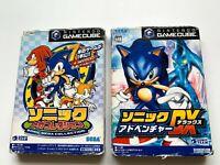 Lot2 Nintendo GameCube SONIC set (Mega Collection,Adventure ) SEGA NTSC-J (Japan