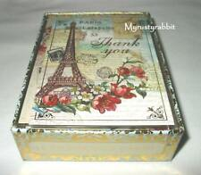 Punch Studio Retired Paris Roses Eiffel Tower 12 Thank You Note Cards 97516