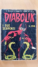 DIABOLIK anno IX n. 2  i due serpenti  ORIGINALE  Sodip 1970