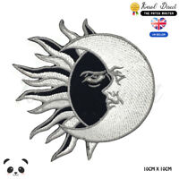 Yin Yang Sun And Moon Embroidered Iron On Sew On Patch Badge