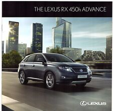Lexus RX 450h Advance Limited Edition 2011-12 UK Market Sales Brochure