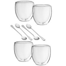 4YourHome Set of 2 Double Walled Thermal Glasses for Bodum and Tassimo Coffee