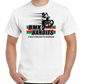 BMX BANDITS T-SHIRT CLASSIC LOGO Film Movie Mens 100% retro gift white S- 3xl