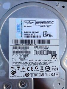 """IBM 59Y5485 69Y2711 2TB 7.2K 7200 RPM Hard Disk HDD SATA 3.5"""" 0F10632 DK7SAA200"""