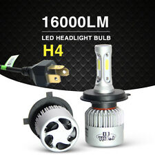 2pcs H4 HB2 9003 72W 16000LM LED Headlights Kit High/Low Beam Bulbs 6500K White