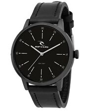 NEW RIP CURL SURF DRAKE MIDNIGHT A2908 LEATHER WRIST WATCH