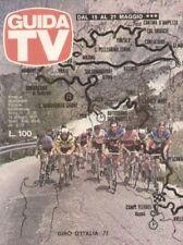 GUIDA TV 1977 N.20 GIRO D'ITALIA CICLISMO DIRK BOGARDE ISABELLA BIAGINI JUVENTUS