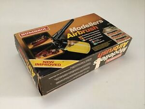 Vintage 1970/80's Humbrol Modellers Airbrush Set Paint Kit - complete - Boxed
