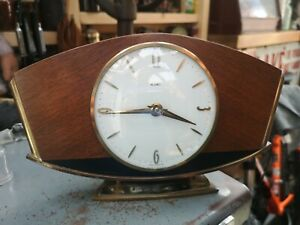 Vintage Classic METAMEC Mantle Clock Art Deco wind up