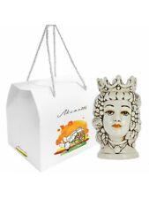 Testa di moro in ceramica di Caltagirone astuccio per bomboniera 100208472802