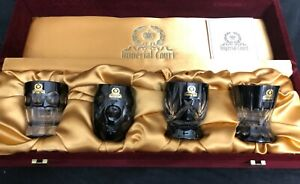 Imperial Court Peter the Great Black Vodka Glasses (Set of 4)