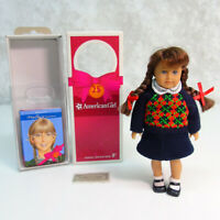 """American Girl MOLLY 6.5"""" MINI DOLL In Meet Outfit + 25th Anniversary BOOK & BOX"""