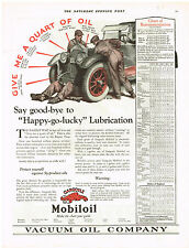 Mobil Oil  & Edison Mazda Lamps 1922 Magazine Advertisment Ad General Electric