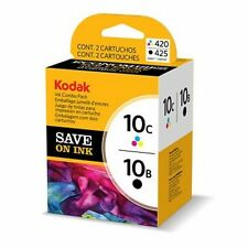2/Pk Genuine Kodak 10B 10C Color Black Ink Cartridges EasyShare 5100 5300 5500