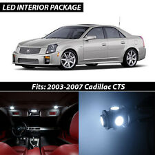2003-2007 Cadillac CTS White Interior LED Lights Package Kit