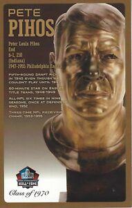 Pete Pihos Philadelphia Eagles  Football Hall of Fame Bust Card