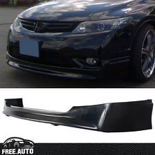 Fit For 2006-2008 Honda Civic JDM Front Bumper Lip Spoiler Polyurethane MU Black