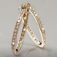 Ohrringe Gold Creolen Schmuck Vergoldet Gefüllt Luxus Damen Edel Vergoldung Neu