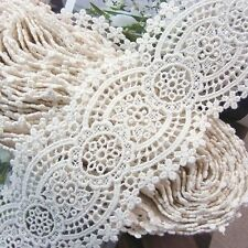 "Antique Style  Embroidery Cotton Crochet Lace Trim 3""(7.5cm) Wide 1Yd"