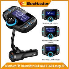 Bluetooth FM Transmitter QC3.0 USB KFZ Auto TF AUX Freisprechanlage MP3 Player