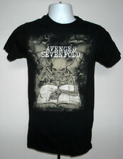 Mens Avenged Sevenfold Winged Skeleton t shirt small heavy metal band Genesis