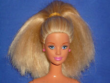 Mackie Mouth Barbie Doll ~ Straight Blonde Hair ~ Nude ~ Play, Parts or OOAK