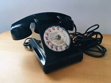 Ancien téléphone bakelite noire 1965