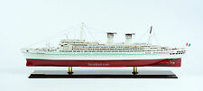 SS Michelangelo Italian Line Ocean Liner Handmade Wooden Ship Model Scale 1:300