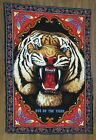 Vintage Eye of the Tiger Tapestry Wall Hanging RT BKLYN NY Made in Turkey Retro