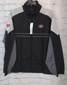 San Francisco 49ers Men'sX-Large NFL Apparel Windbreaker Track Jacket - Black
