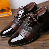 Men's Business Formal Oxfords Dress Shoes Lace Up Wing Tip Brogue Wedding Party