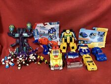 Transformers Lot Optimus Prime Bumblebee Soundwave Rescue Bots Chase The Police