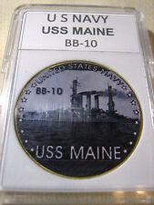 US NAVY - USS MAINE (BB-10) Challenge Coin