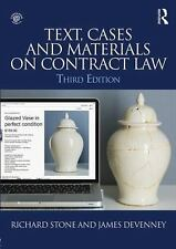 TEXT, CASES AND MATERIALS ON CONTRACT LAW - NEW PAPERBACK BOOK