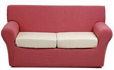 Copridivano 2 posti per divano Joker millerighe Tinta unita Giallo
