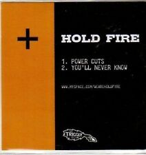 (BU31) Hold Fire, Power Cuts / You'll Never Know - DJ CD