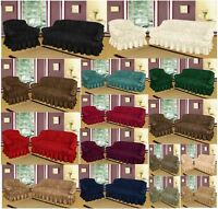 Sofa Settee Slip Covers Jacquard Material 1,2,3 Seater Complete Sofa Throw