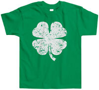 Distressed Four Leaf Clover Toddler T-Shirt Tee St. Patricks Day Holiday Fun