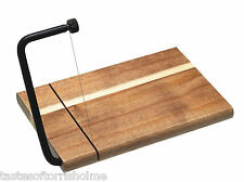 Artesà by Kitchen Craft Acacia Wood Cheese Board & Integrated Cutting Wire